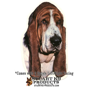 Basset Head Decal | Pair