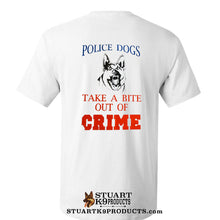Load image into Gallery viewer, Police Dogs- Take a Bite Out of Crime Tee