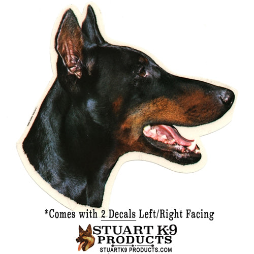 Doberman Head | Pair