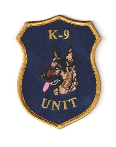 K-9 Unit German Shepherd  Head Patch | Left Facing #2