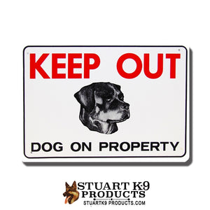Keep Out | Dog on Property -Rottweiler Head