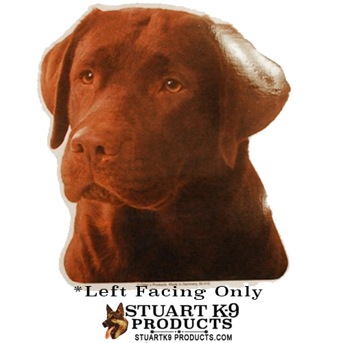 Labrador Head Chocolate | Left Facing Only