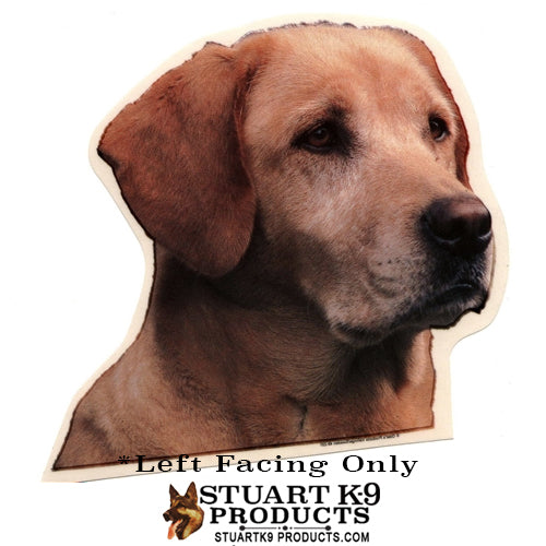 Labrador Head Yellow  | Left Facing Only