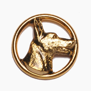 Belgian Malinois Head Circle Pin