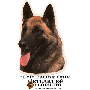 Belgian Malinois Head Decal | Left Facing