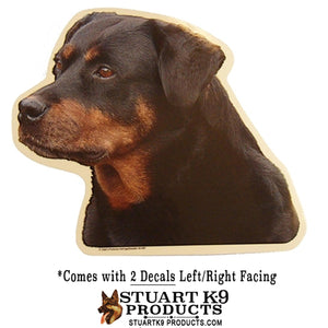 Rottweiler Head Decal | Pair