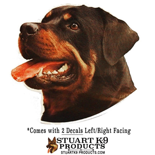 Rottwieler Head Decals | Pair