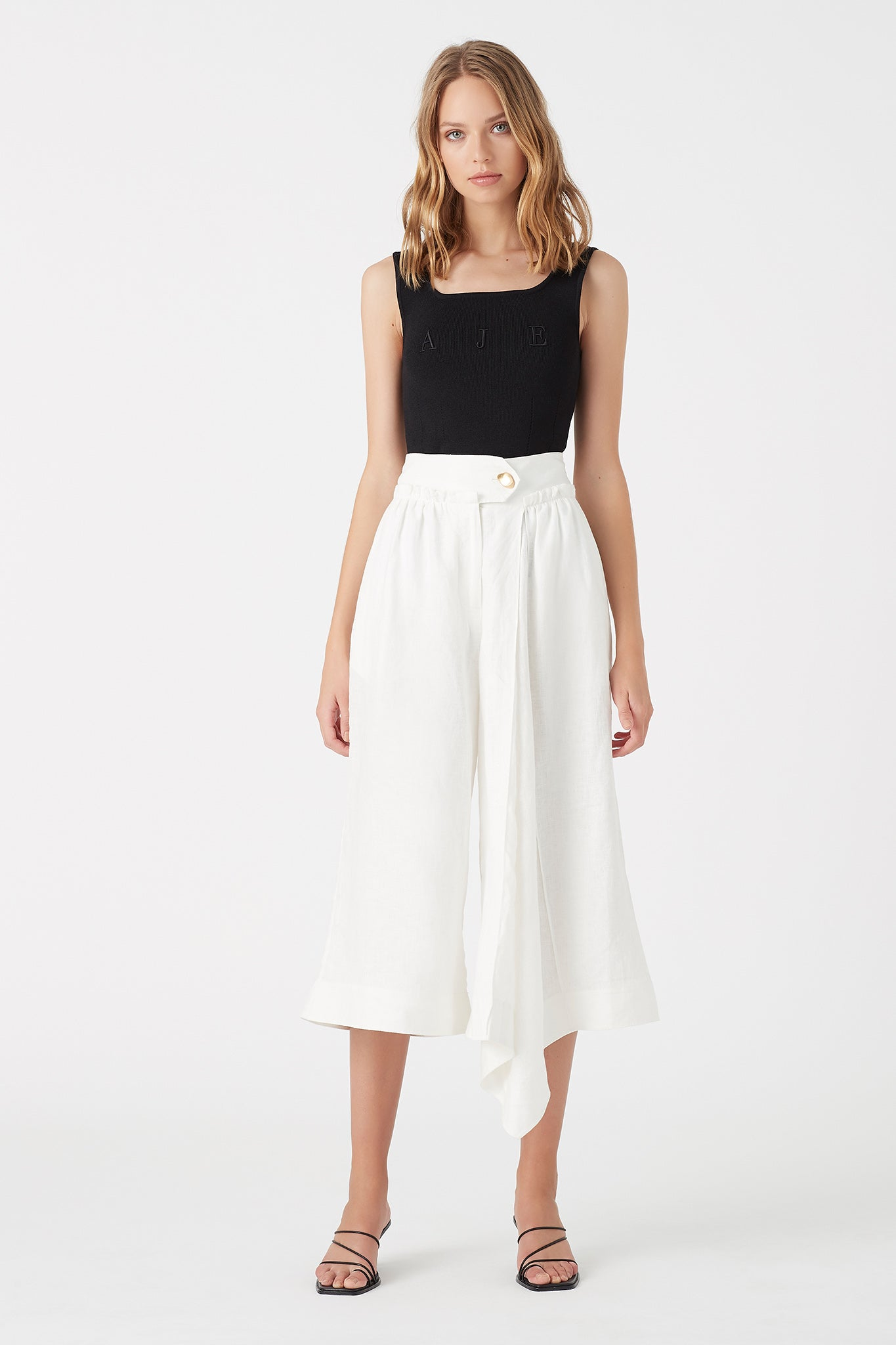 Mimosa Pleated Culotte Outfit View
