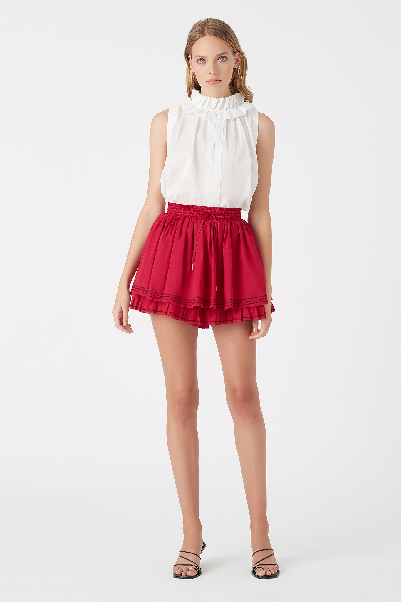 Mimosa Frill Short Outfit View