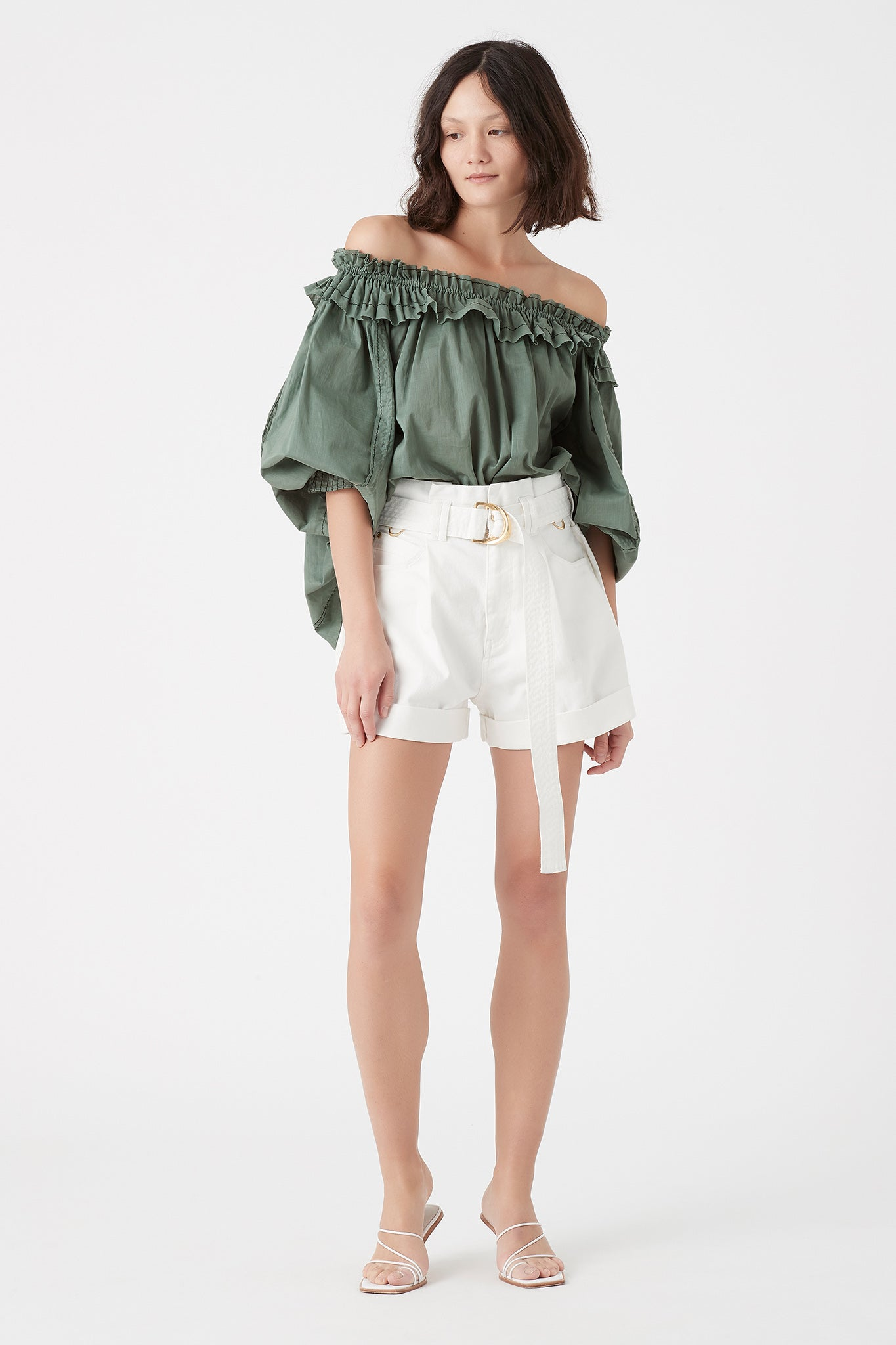 Mimosa Ruffle Blouse Outfit View