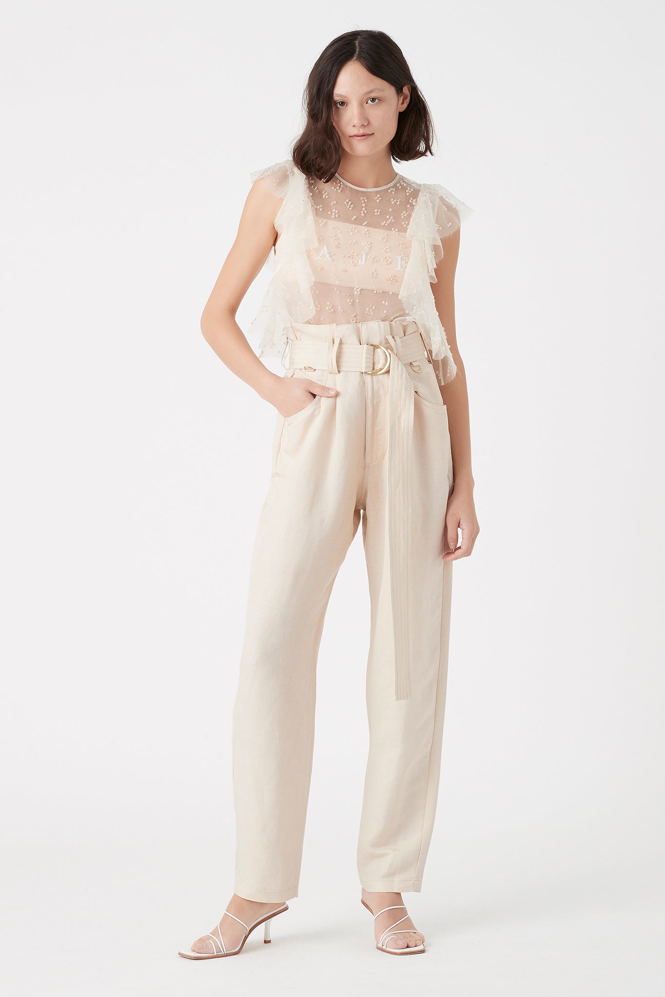 Paperbark Linen Trouser Outfit View