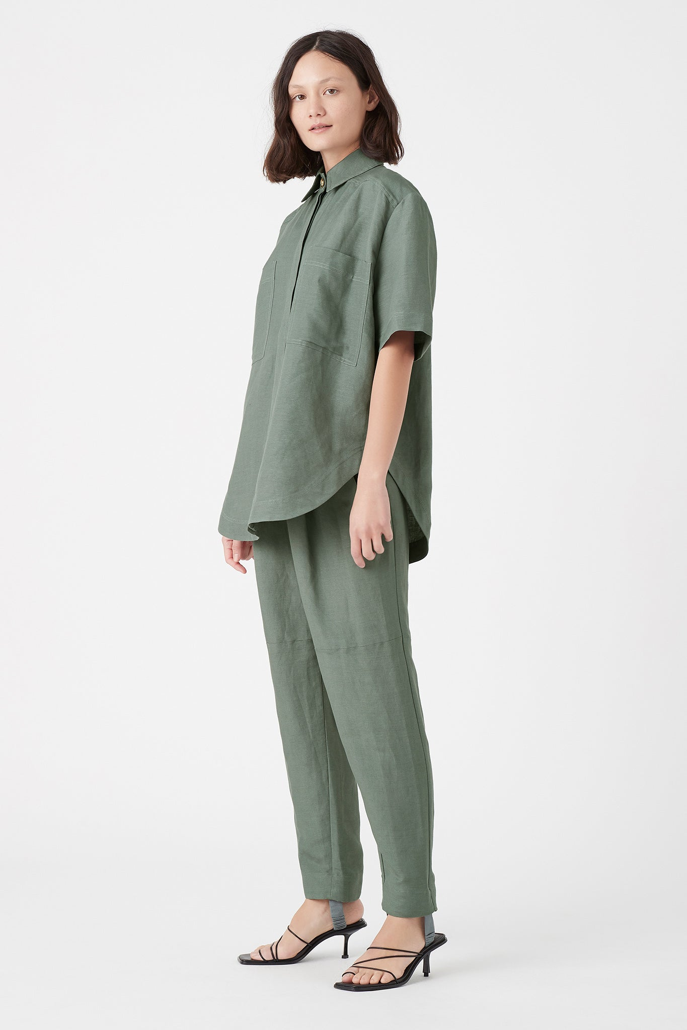 Paperbark Stirrup Trouser Outfit View