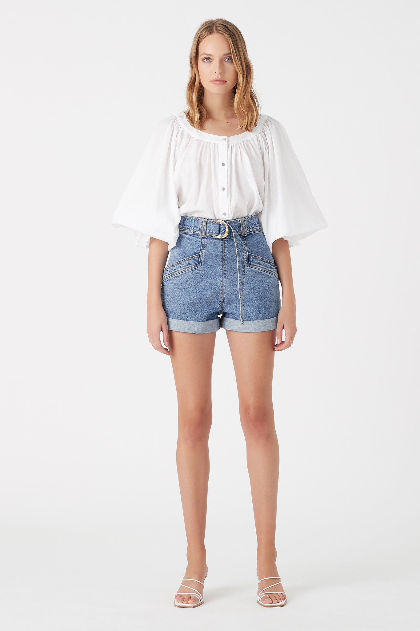 Mimosa Denim Short Outfit View