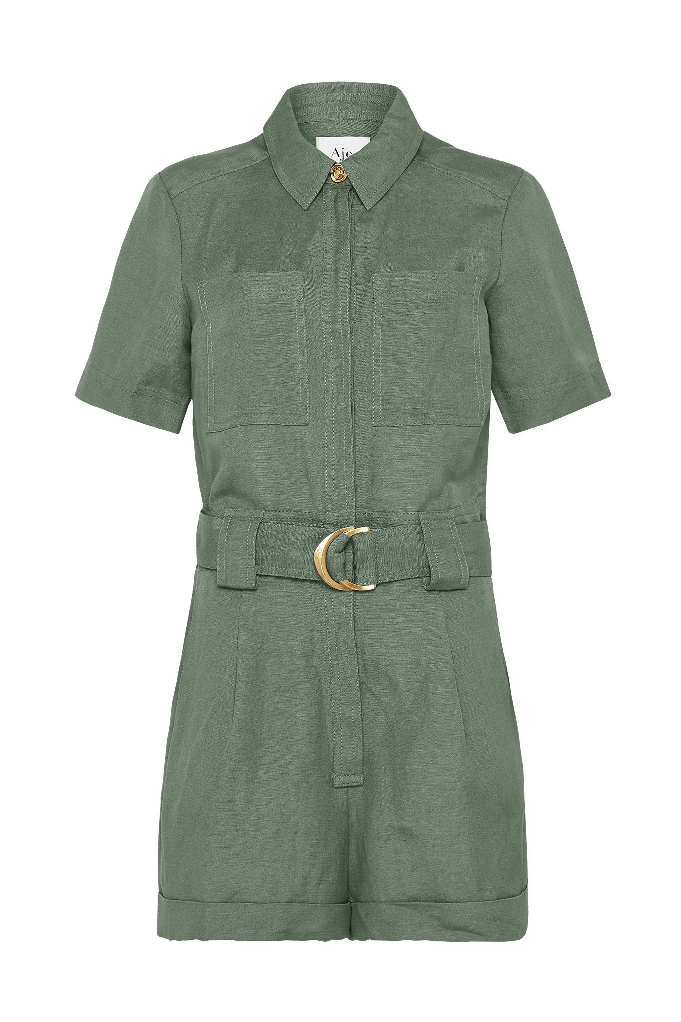 Paperbark Belted Playsuit Product View