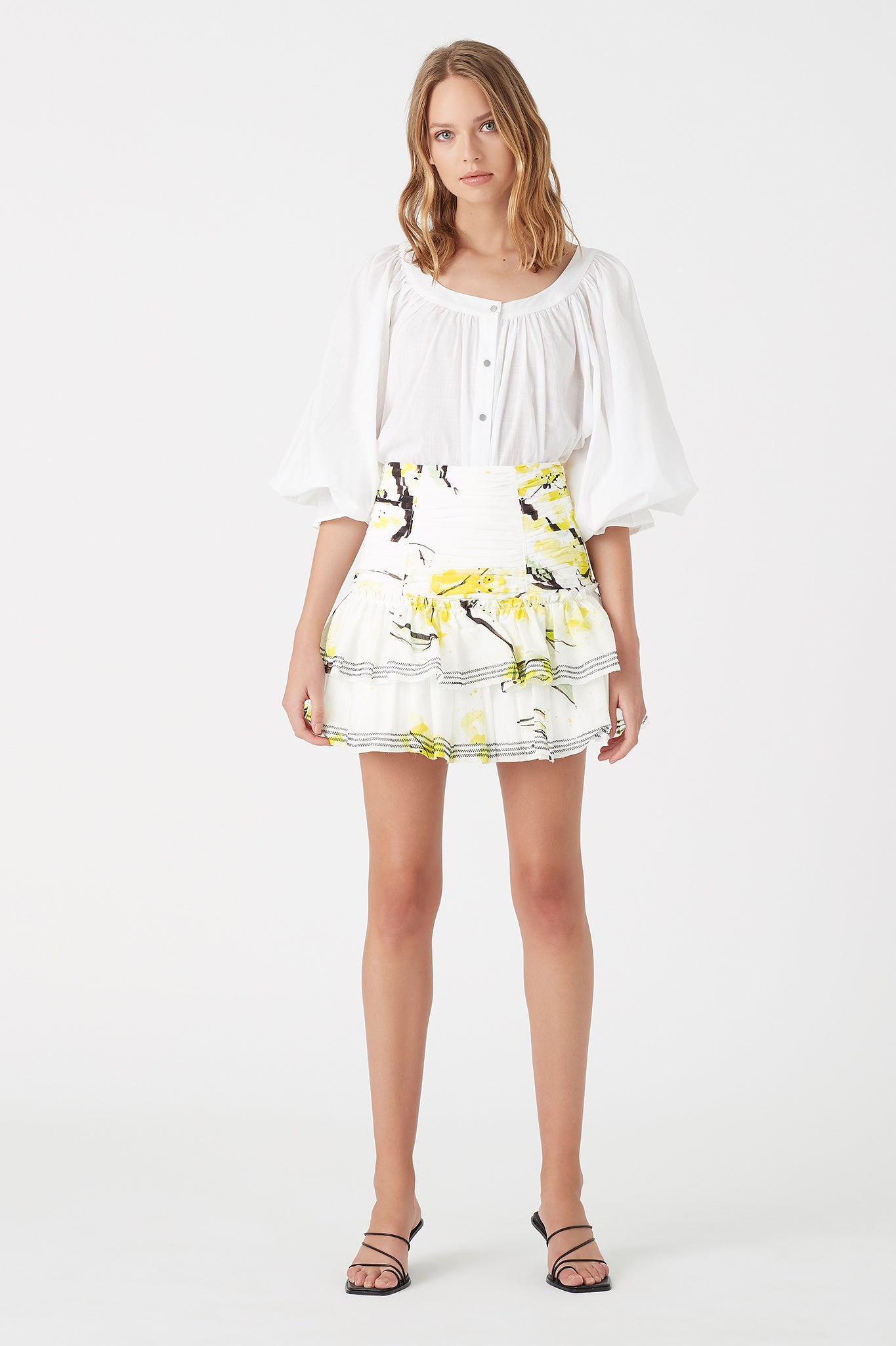 Mimosa Frill Mini Skirt Outfit View