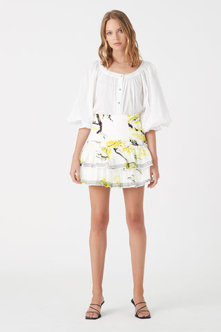 Mimosa Frill Mini Skirt