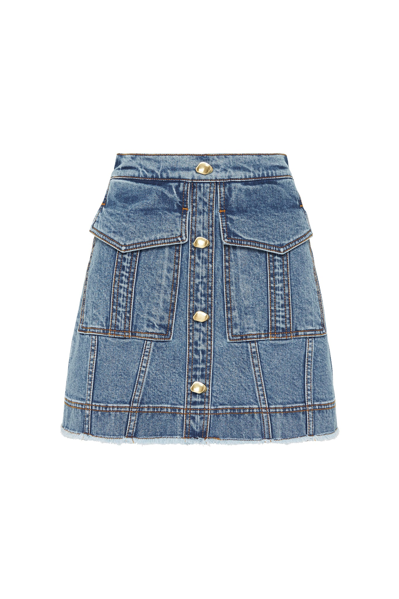 Mimosa Denim Pocket Skirt Product View