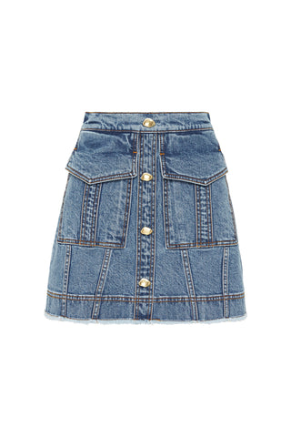 Mimosa Denim Pocket Skirt