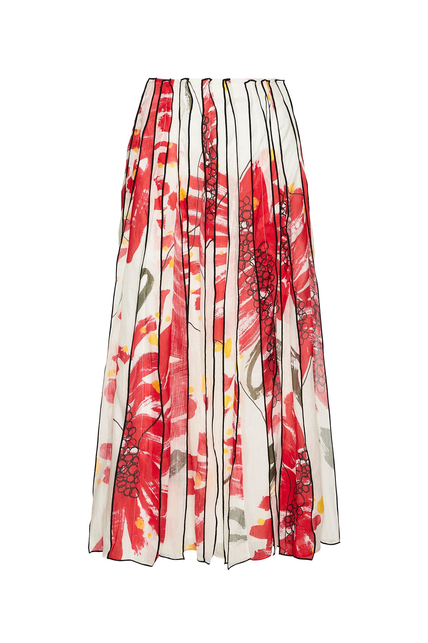 Banksia Strip Midi Skirt Product View