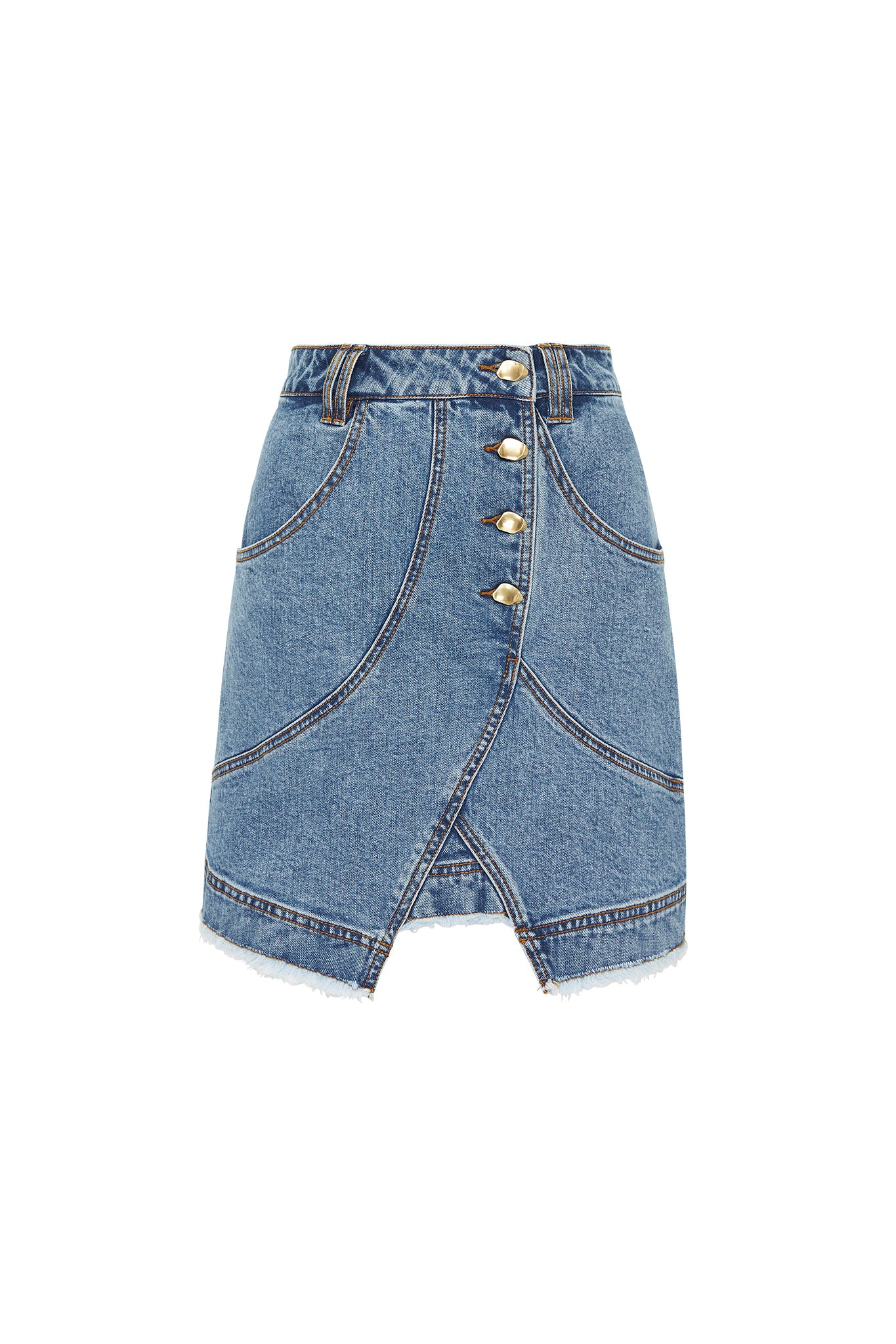 Paperbark Denim Shell Skirt Product View