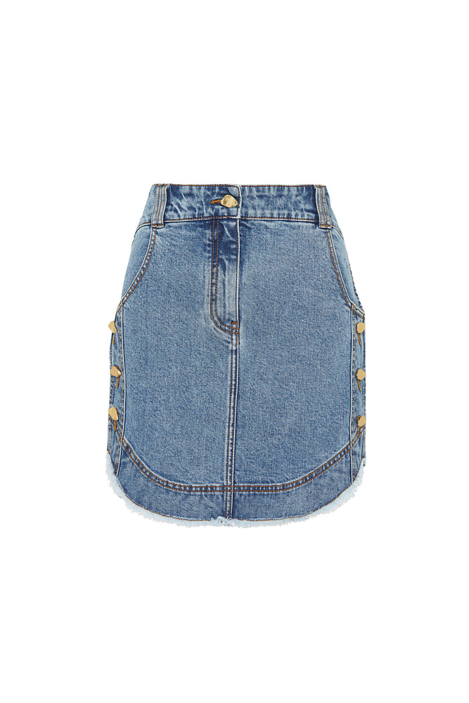 Mimosa Denim Scoop Skirt