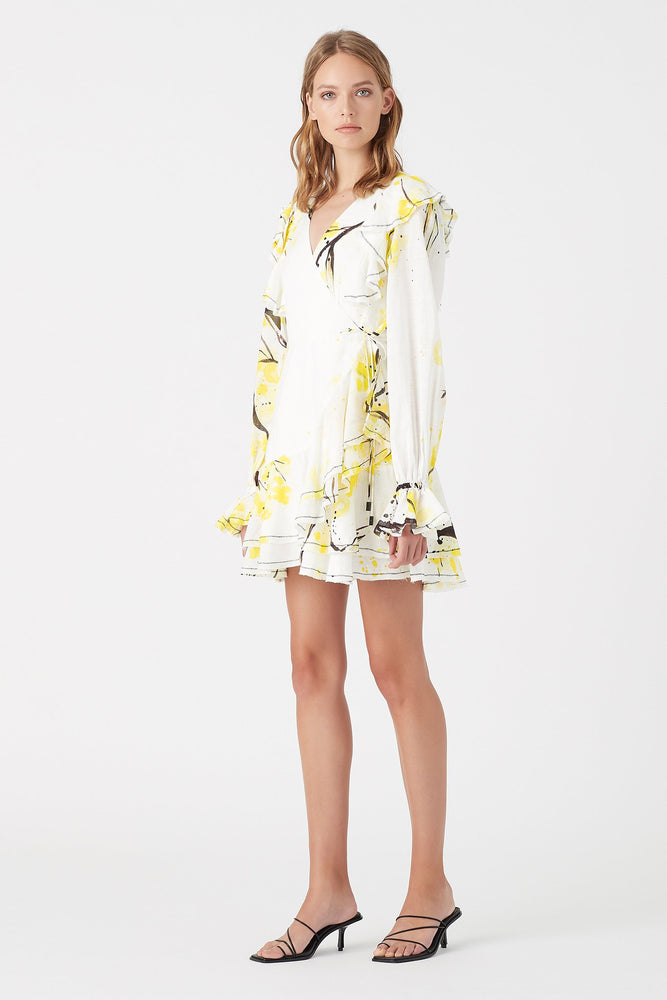 Mimosa Wrap Mini Dress