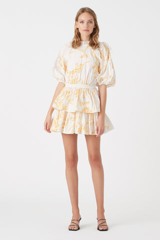 Mimosa Broderie Frill Dress