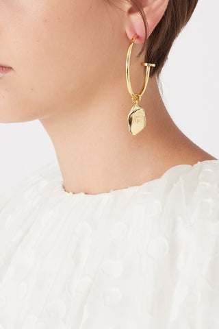 The Aje Large Leaf Hoops