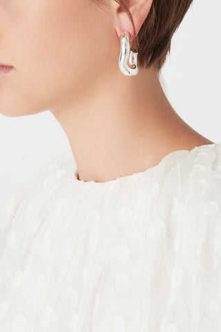 The Twirl Stud Hoops