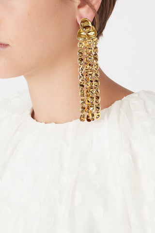 The Mesh Cascade Earrings