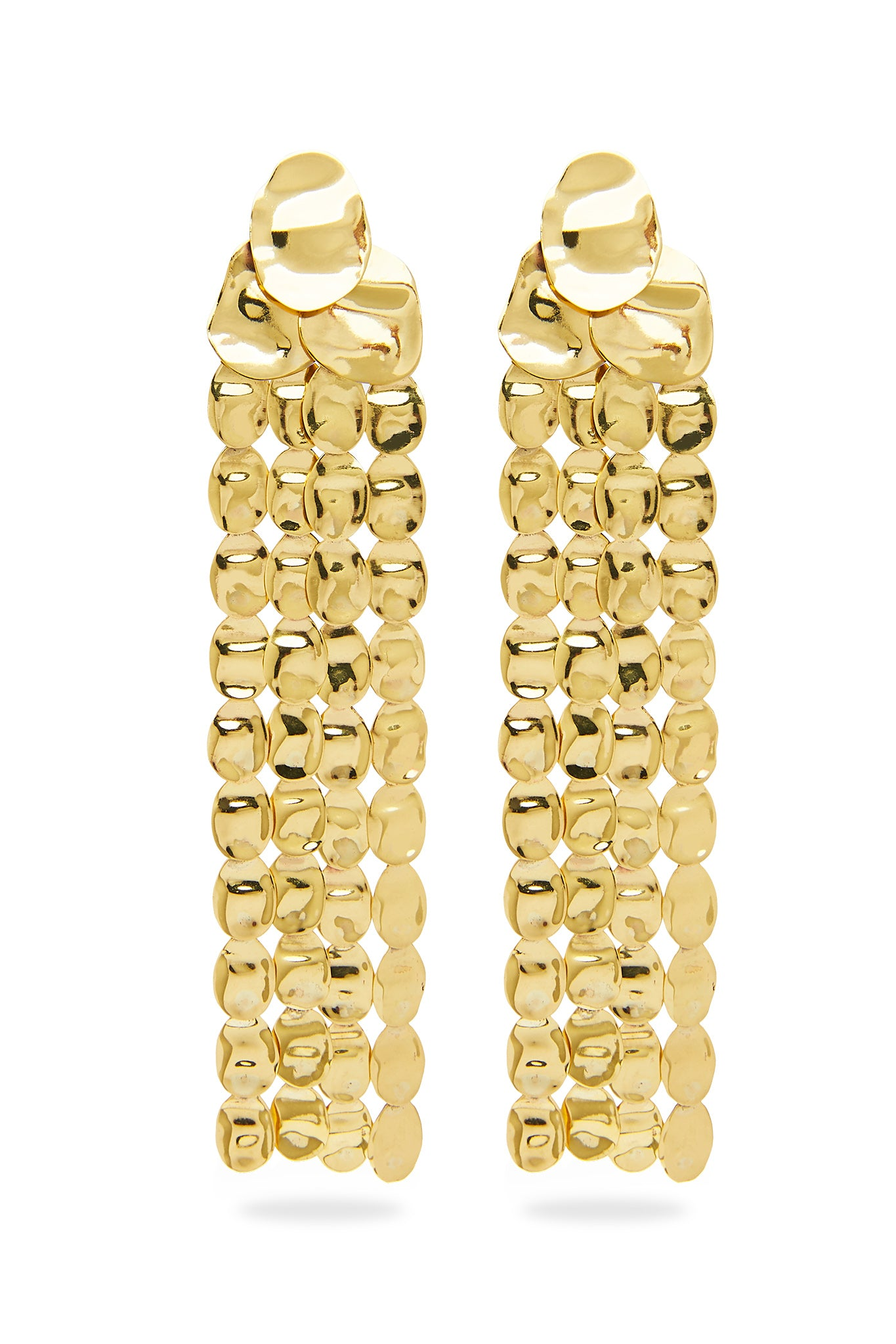The Mesh Cascade Earrings Outfit View