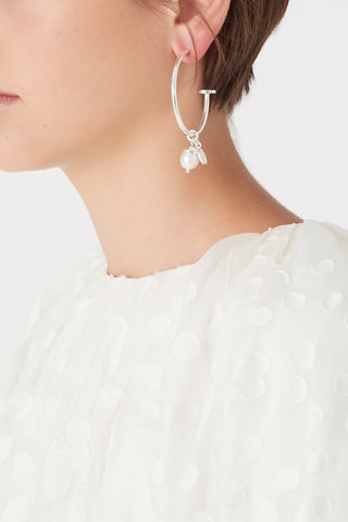 The Pearl Drop Hoops