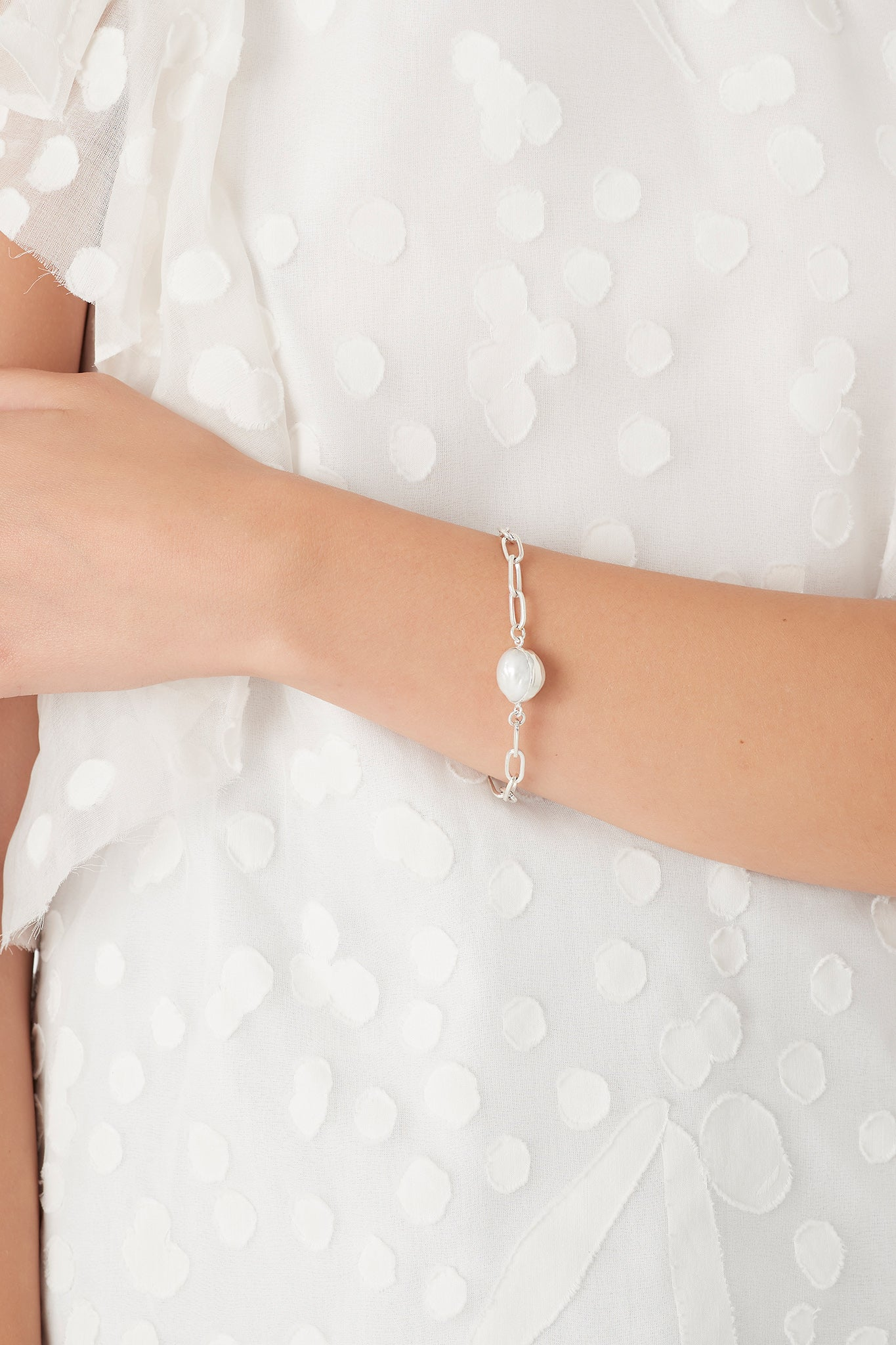 The Pearl and Fob Bracelet Product View