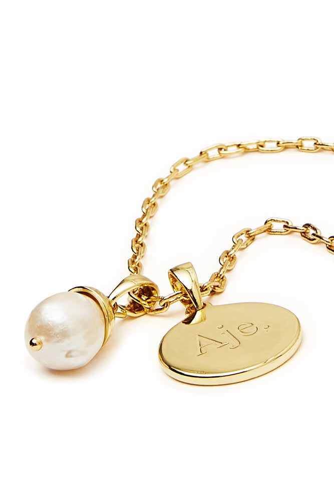 The Aje Pearl and Disc Necklace