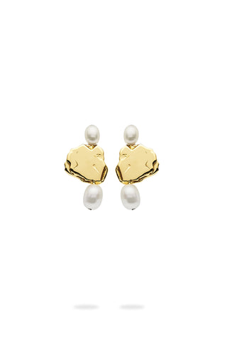 The Pearl and Pebble Earrings