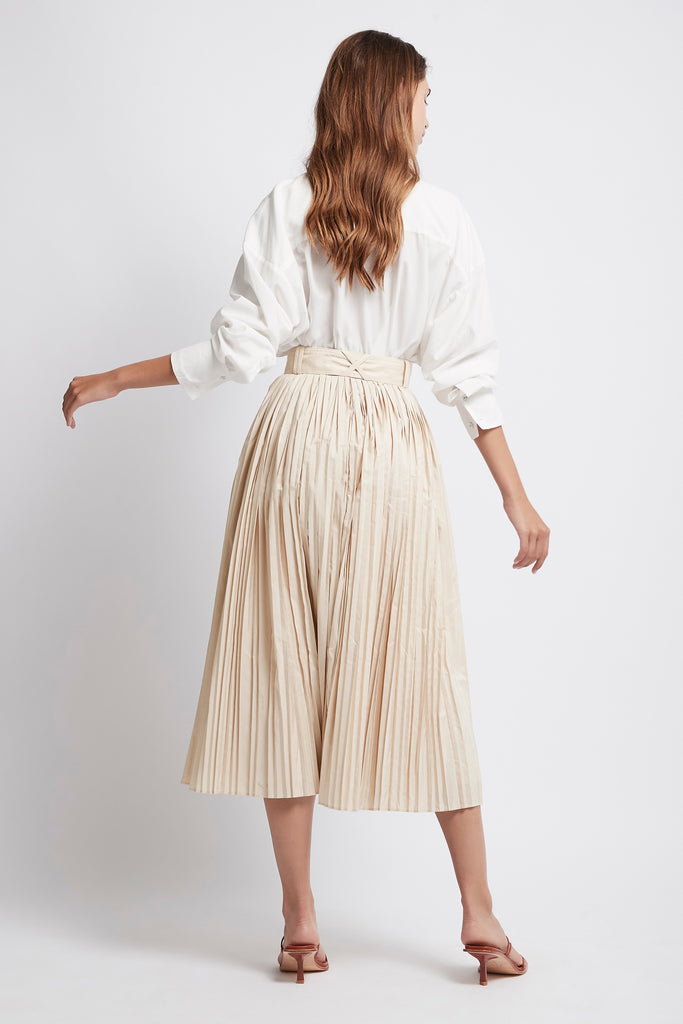 Prima Pleat Midi Skirt