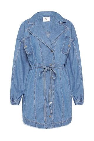 Allegro Denim Blouson Dress