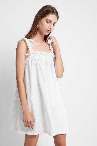 Allegro Gathered Tie Mini Dress