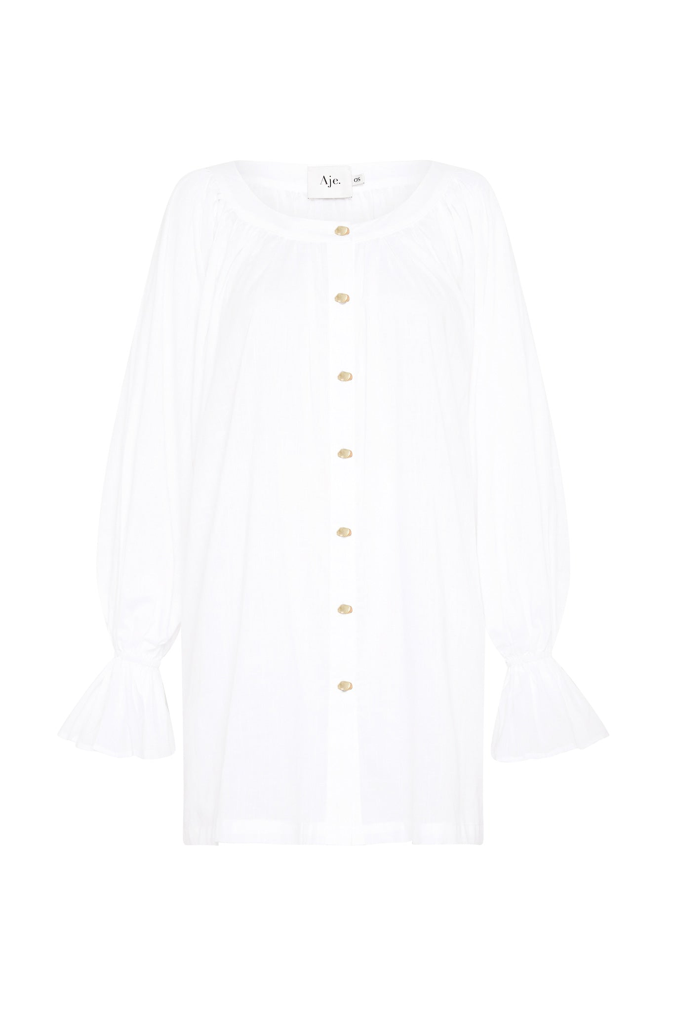 Le Corsaire Gold Button Blouse Product View
