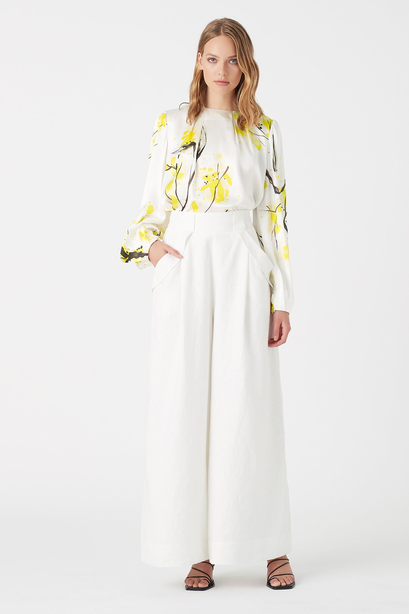 Mimosa Thurlow Silk Blouse Outfit View