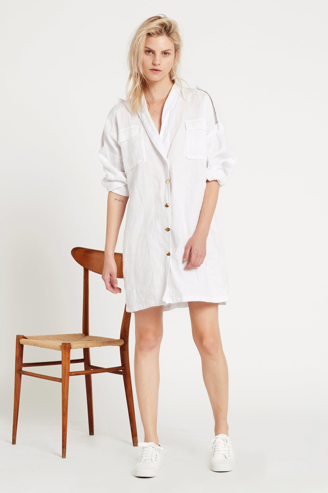 Aje Logo Shirt Dress Outfit View