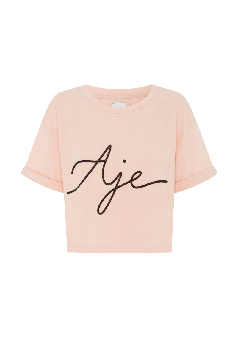 Aje Beaded Cropped Tee Product View