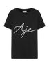 The Aje Ribbon Tee is an update of our signature classic, featuring the same oversized shape with a beaded cursive logo on the front.