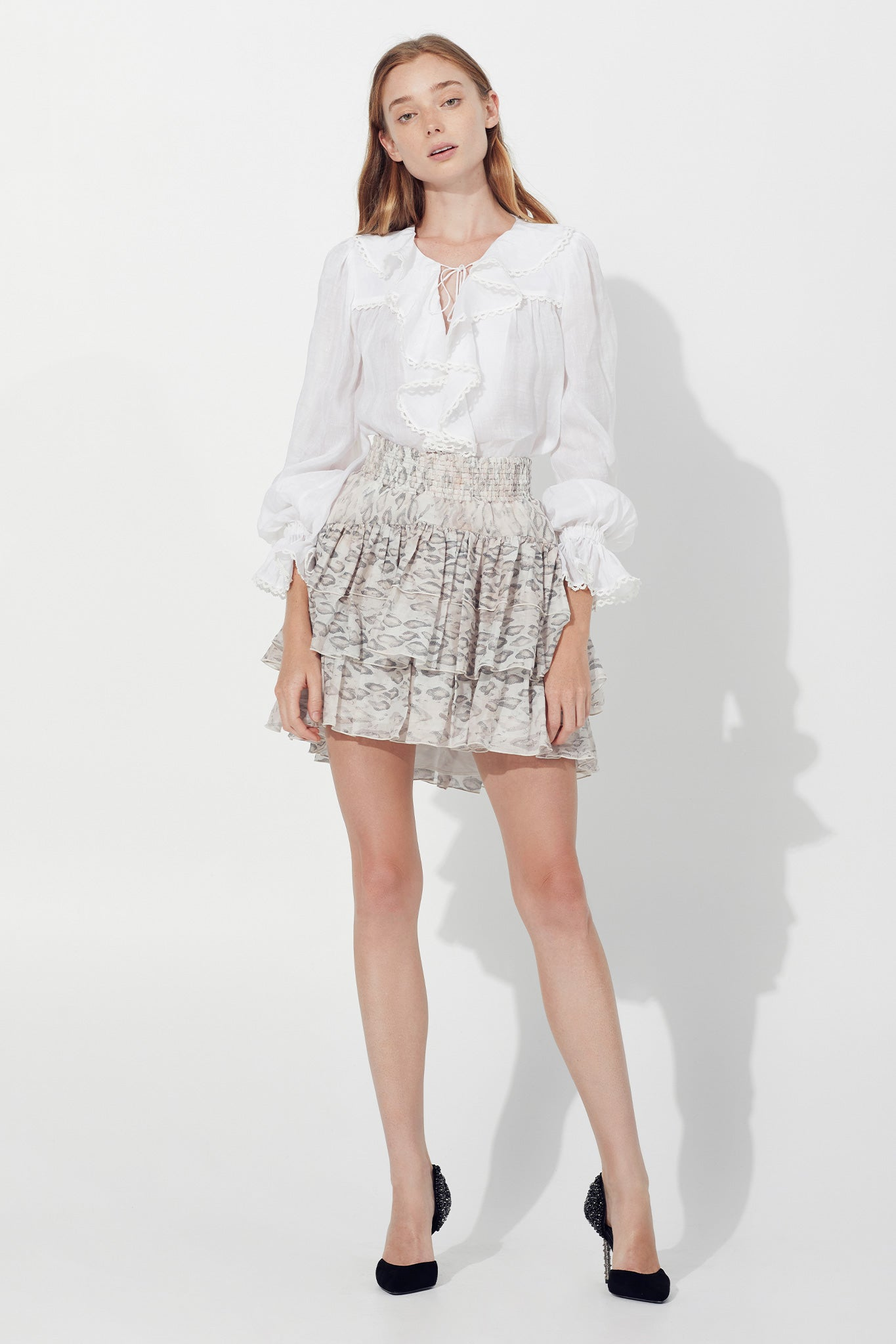 Anais Ruffle Blouse Outfit View