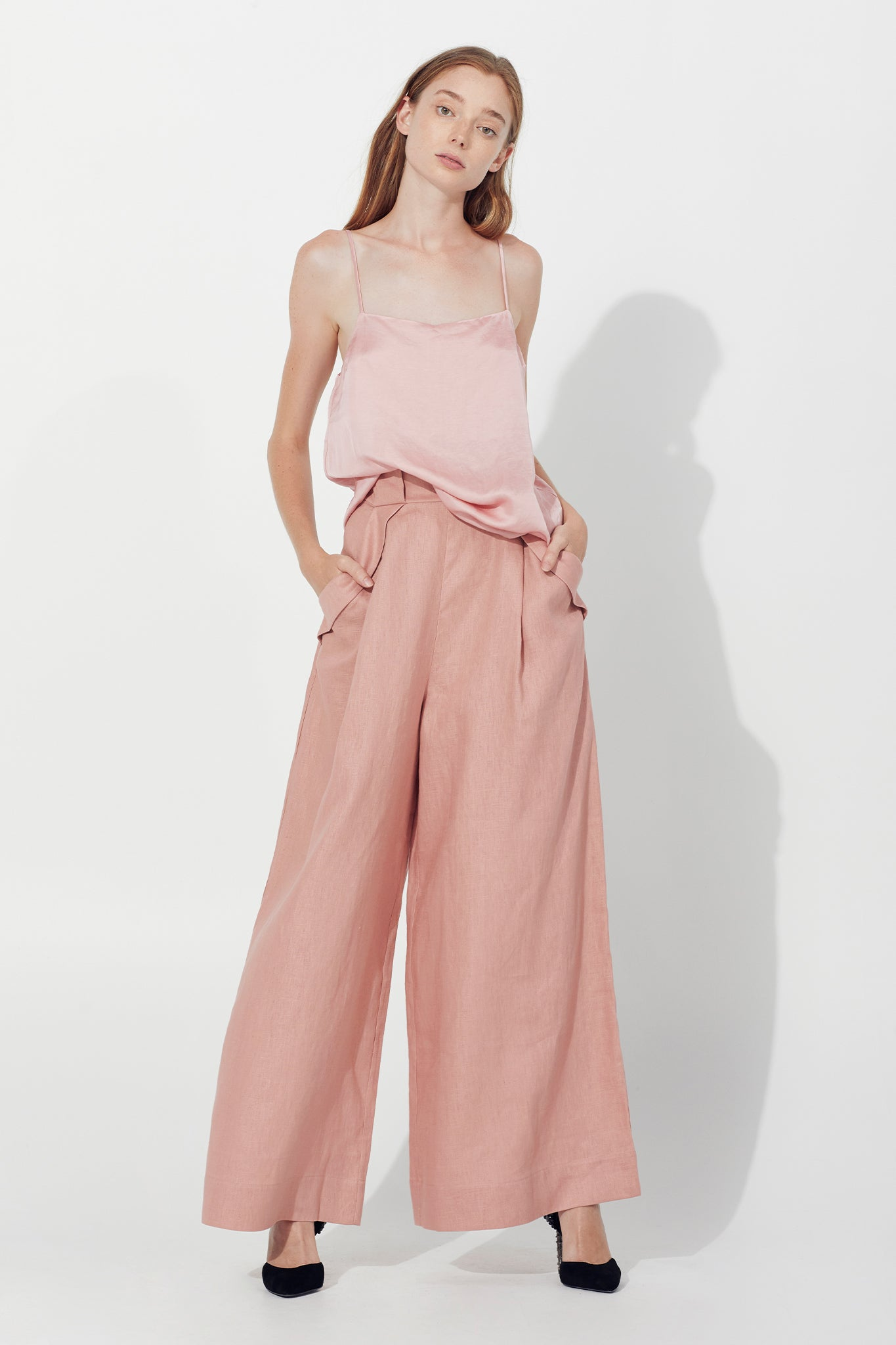 Cove Wide Leg Trouser Outfit View