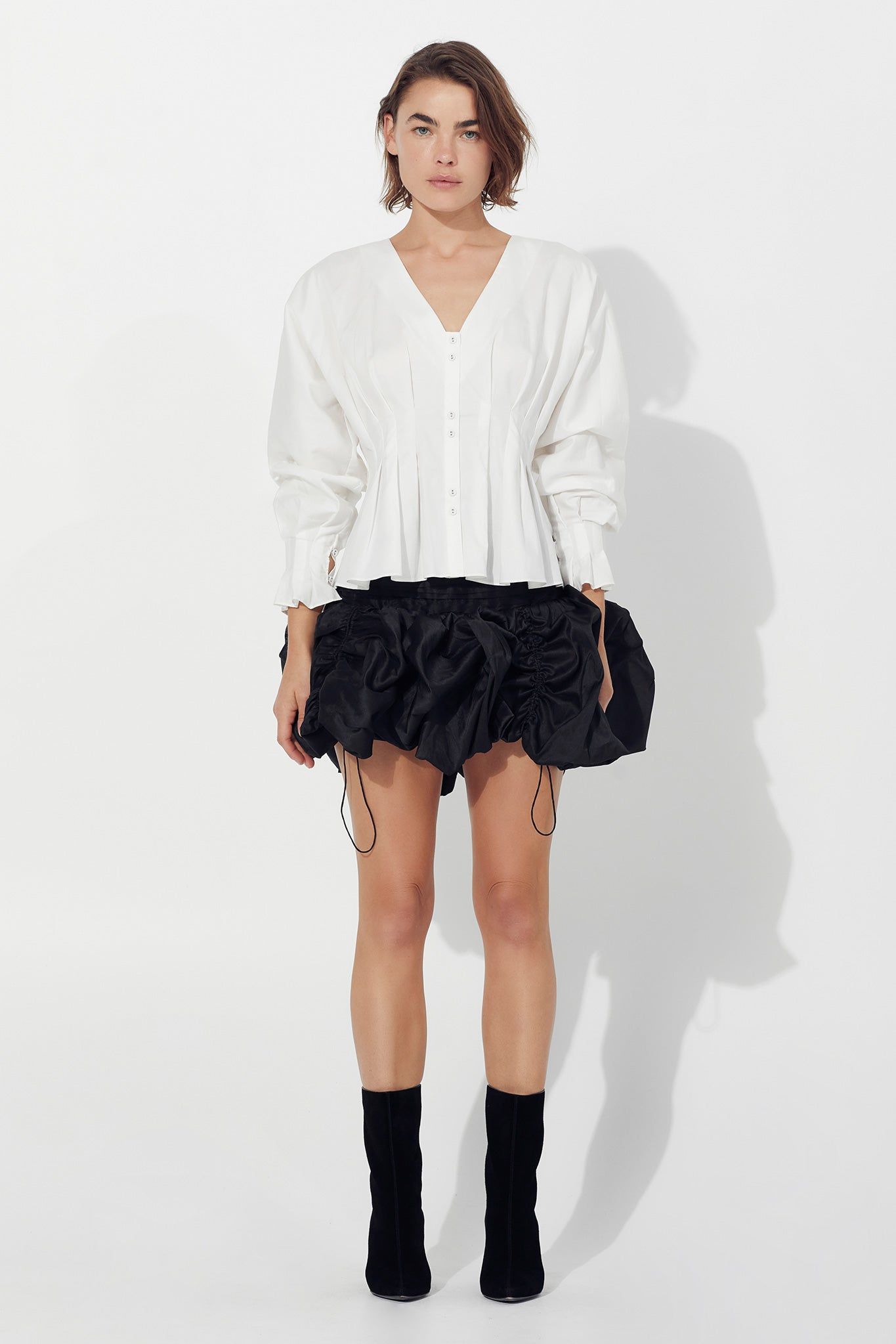 Dalia Bubble Mini Skirt Outfit View