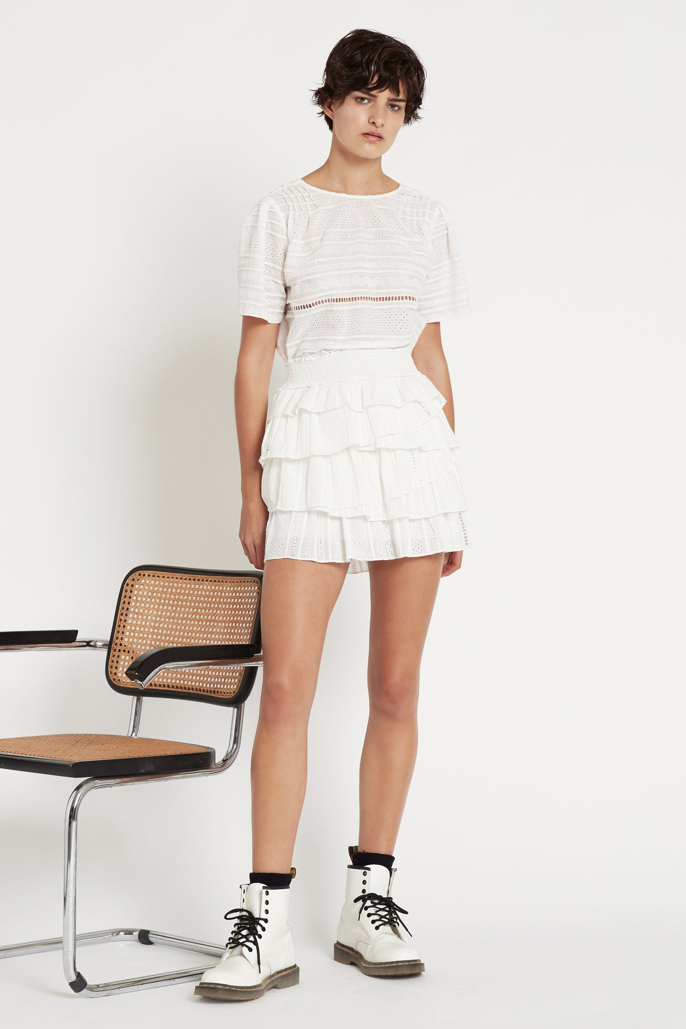 Evans Ruffle Skirt Outfit View