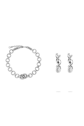 The Grand Chain Necklace and The Mini Twist Hoops Gift Box