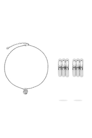 The Trio Hoop Necklace and The Trio Hoops Gift Box