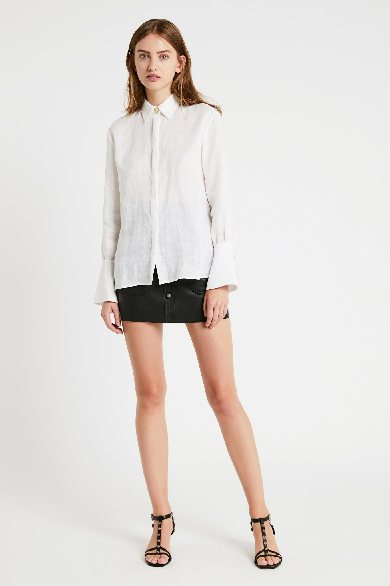Aje Linen Shirt Outfit View